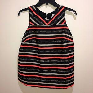 HD in Paris Size 6 Orange Black Striped Top